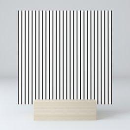 Garden Sludge Grey Pinstripe on White Mini Art Print