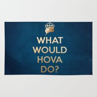 jay z Area & Throw Rugs featuring What Would Hova Do? - Jay-Z by Luke Eckstein
