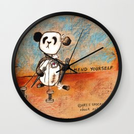 Mend Yourself Wall Clock