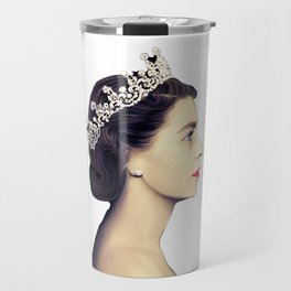 QUEEN ELIZABETH II - THE YOUNG QUEEN IN PROFILE Travel Mug