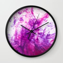 Blue and Pink ink Wall Clock