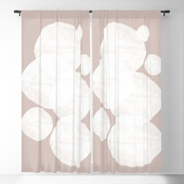Pastel Abstract Art, Soft Color Blackout Curtain