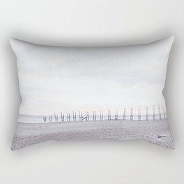 High-key beach sunrise Rectangular Pillow