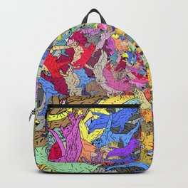 Colorful Rainbow Cats Backpack
