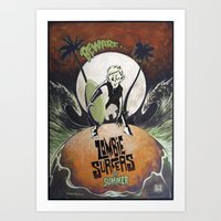 Zombie Surfers of Summer Art Print