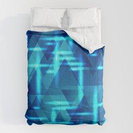 Blue crossings on metal sea background. Comforters