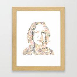 Misunderstood - word art Framed Art Print