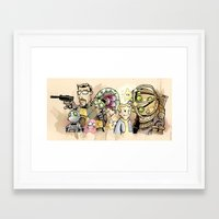 inside gaming Framed Art Prints featuring gaming. by poopbird