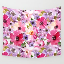 FLOWERS WATERCOLOR 6 Wall Tapestry