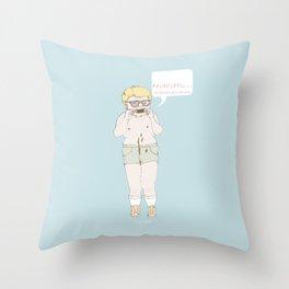 mmm... Throw Pillow