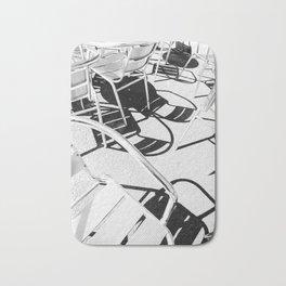 Summer Sunlit Shadow Chair Pattern Bath Mat