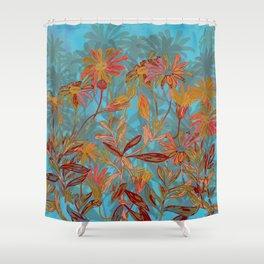 Fantasy Fall Flowers Shower Curtain