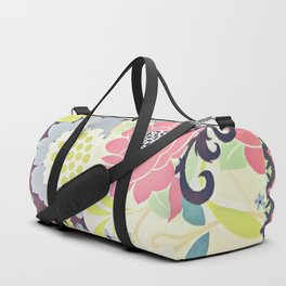 Vintage Floral Collage Duffle Bag