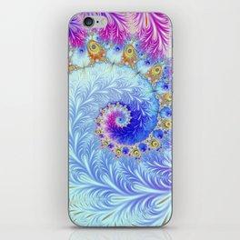 Pink Ice Spiral Fractal iPhone Skin