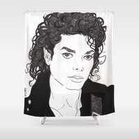 michael jackson Shower Curtains featuring Michael. by Molly Kiely