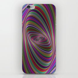 Psychedelic colors iPhone Skin