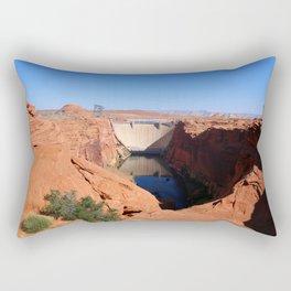 Glen Canyon Dam And Colorado River Rectangular Pillow