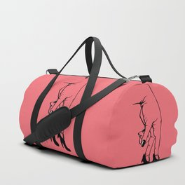 See Yourself Out | Pink Variant Duffle Bag