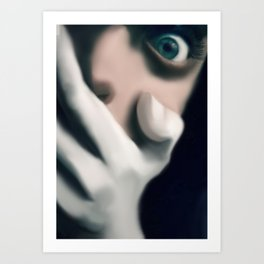 the scare Art Print
