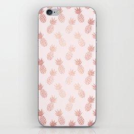Rose Gold Pineapple Pattern iPhone Skin
