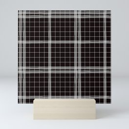 Back to Schoo l- Simple Handdrawn Grid Pattern - Black & White - Mix & Match with Simplicity of Lif Mini Art Print
