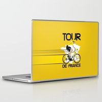 tour de france Laptop & iPad Skins featuring Tour De France by Wyatt Design