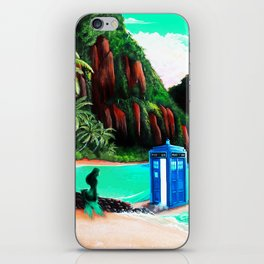 Tardis With Beauty Mermaid iPhone Skin