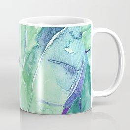 Banana Tree Leaves | Tropical  BLUE Watercolor Coffee Mug