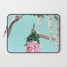1992 Floral Episodes (Aqua) Laptop Sleeve