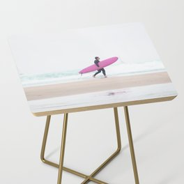 surfing beach vibes Side Table