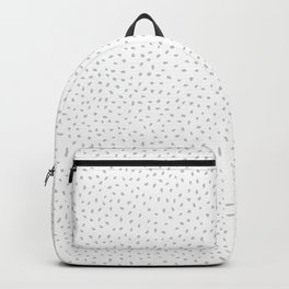 Polka Dot Doodle White Gray Patter Backpack