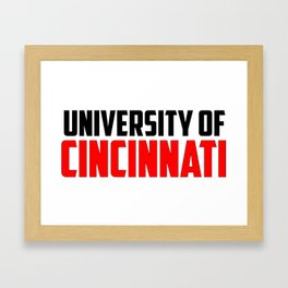 U of Cincinnati, Ohio Framed Art Print