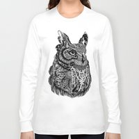 owl Long Sleeve T-shirts featuring Owl by Feline Zegers