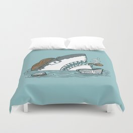 The Dad Shark Duvet Cover