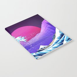 Synthwave Space: The Great Wave off Kanagawa #2 Notebook