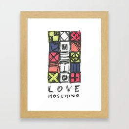 Love moschin moschino new fashion art cute style trend kenzo 2018 2019 color mixed shirt cover Framed Art Print