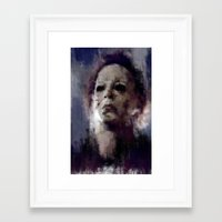 michael myers Framed Art Prints featuring Michael Myers by 炎リュウ