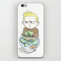 aquaman iPhone & iPod Skins featuring Baby Arthur by Eric Dockery