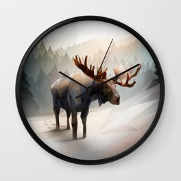 Moose (Low Poly Mystical) Wall Clock