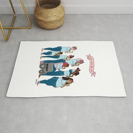 Intersectional Rosie the Riveter Rug