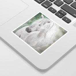 Cathy's white horse Sticker