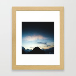 The Town of the Clouds Framed Art Print