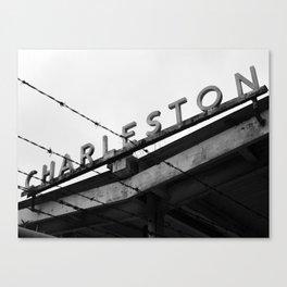 Charleston Barbed Wire Canvas Print