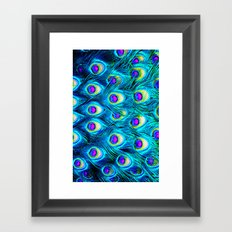 peacock feathers - for iphone - Framed Art Print