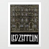 Physical Graffiti. Zeppelin lyrics print. Art Print