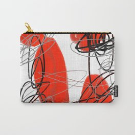 Red Dot Kiss Abstract Carry-All Pouch