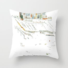 king of the allotments Throw Pillow
