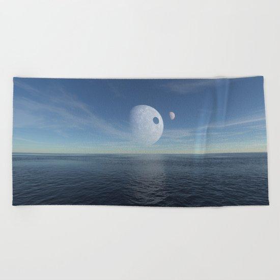 Alien morning Beach Towel