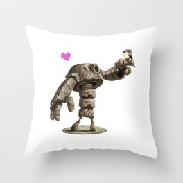 Robot and Shrike Throw Pillow