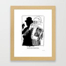 Secret Life of Santa Claus. Framed Art Print